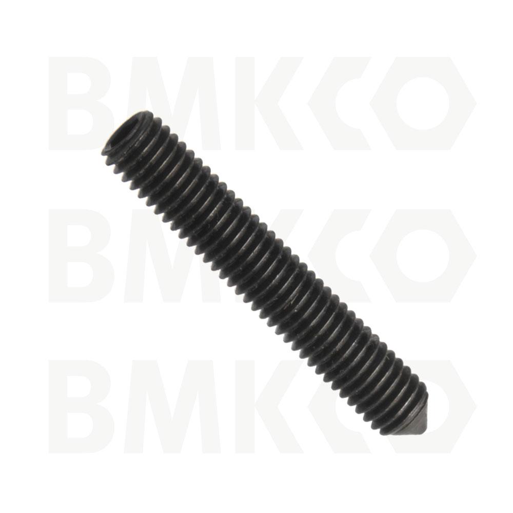 Šrouby, stavěcí (červíky), DIN 914 s hrotem, drážka imbus