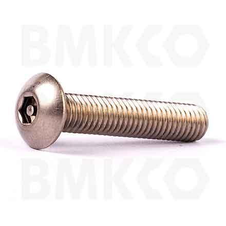 Šrouby, bezpečnostní, metrický závit, zaoblená hlava, drážka imbus+pin
