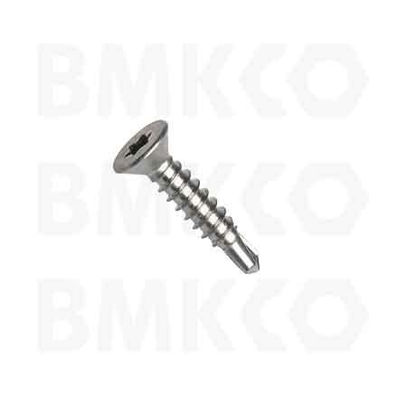 Šrouby, do plechu samovrtné (TEX), DIN7504P zápustná hlava, drážka Tx